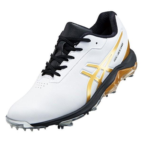 アシックス メンズ・ソフトスパイク・ゴルフシューズ (ホワイト/ リッチゴールド・28.0cm) asics GEL-ACE PRO 4 1113A013 101WHRG 280 返品種別A