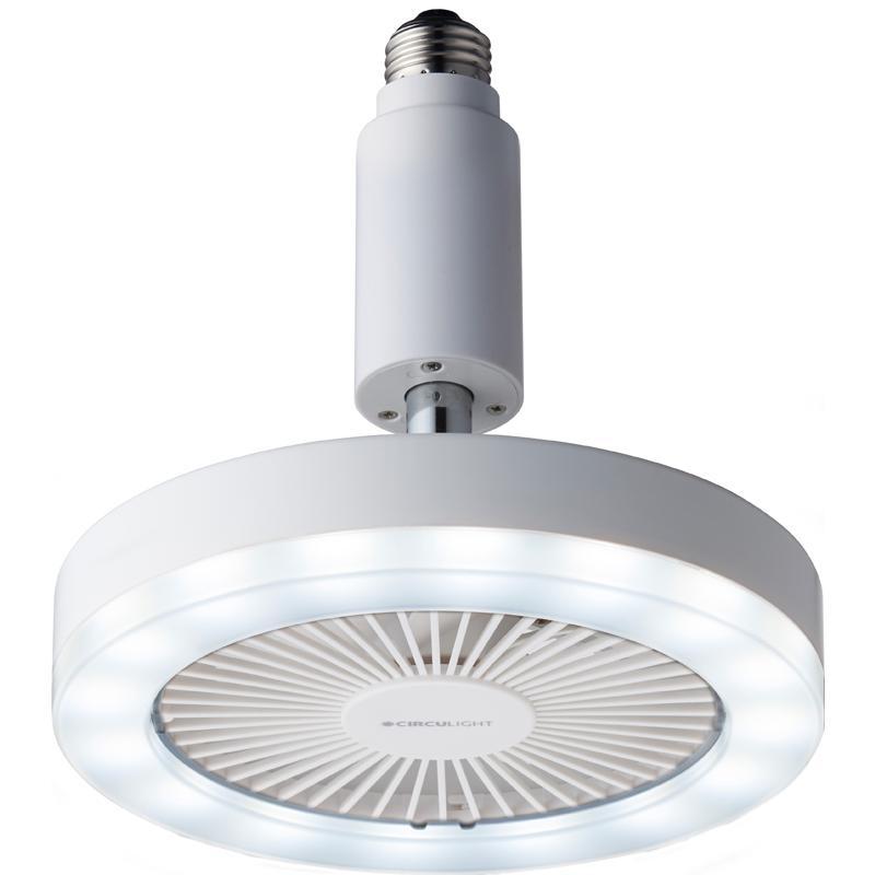 ドウシシャ ファン一体型LEDライト 昼白色 ルミナス 返品種別A お得なキャンペーンを実施中 メーカー公式 DSLS-61NWH サーキュライト ソケットモデル