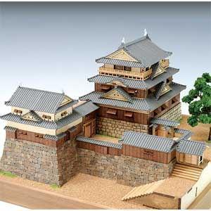 ウッディジョー 1/ 150 木製 松山城木製組立キット 返品種別B