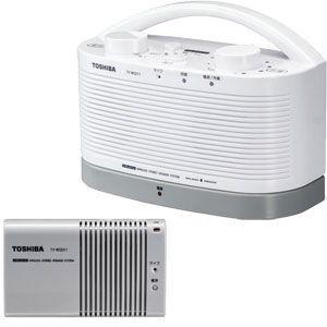 東芝 新作製品、世界最高品質人気! 防水対応テレビ用ワイヤレススピーカーシステム 送信機と受信機のセット TY-WSD11-W 返品種別A 激安通販販売 TOSHIBA