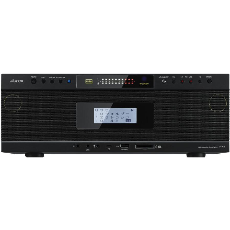 東芝 ハイレゾ対応Bluetooth SD USB CDラジオ 定番から日本未入荷 ブラック K 上等 TOSHIBA 返品種別A Aurex TY-AH1