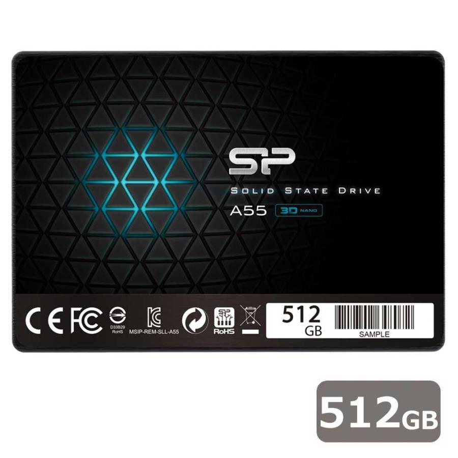 シリコンパワー SiliconPower SSD レビューを書けば送料当店負担 Ace A55シリーズ 512GB PlayStation4 PRO 返品種別B アウトレット☆送料無料 SPJ512GBSS3A55B 4 動作確認済