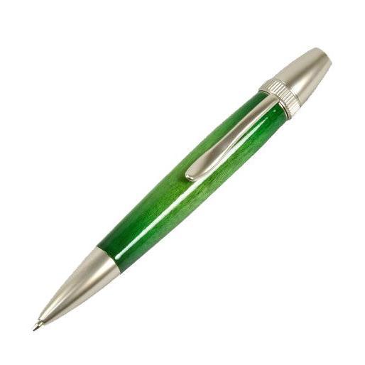 F-STYLE 手作りボールペン 天然木 Air Brush Wood Pen Candy Color カーリーメープル/ 楓 インク黒(Green) TGT1611GREEN 返品種別A