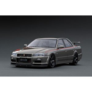 ignitionモデル 1/ 18 Nissan Skyline 25GT Turbo (ER34) Gun Metallic(IG1807)ミニカー 返品種別B