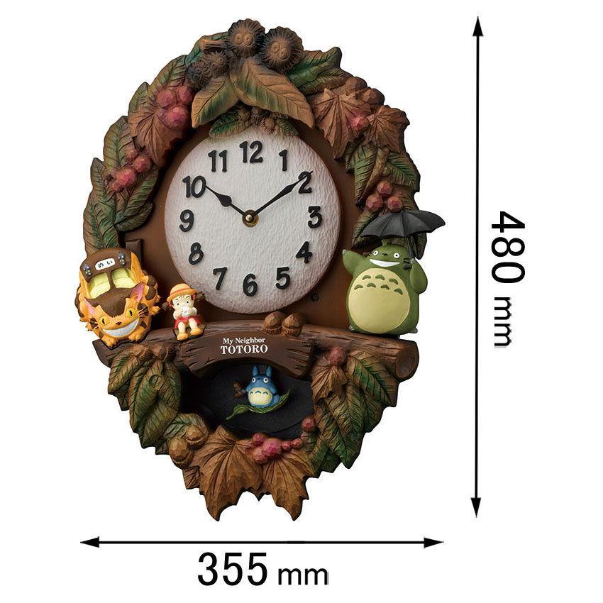 リズム時計 アミューズ時計 (となりのトトロ)4MJ429M06 トトロM429 返品種別A