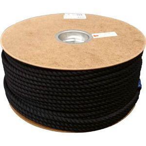 ユタカメイク ポリエステルロープ ドラム巻 9φ×150m(黒) ロープ(ポリエチレン) PRS-51 返品種別A