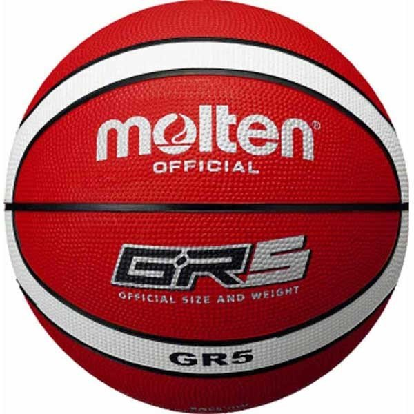 モルテン バスケットボール 5号球 ゴム Molten 返品種別A GR5 トレンド 最安値 レッド×ホワイト BGR5-RW