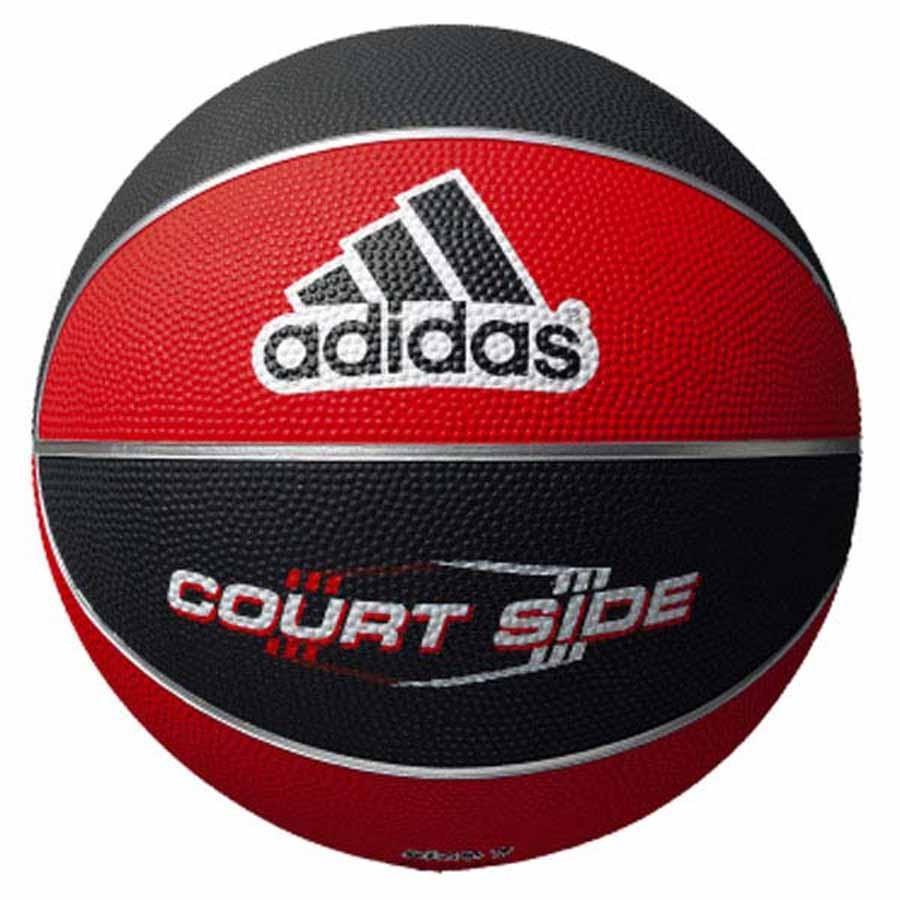 キャンペーンもお見逃しなく アディダス 超特価SALE開催 バスケットボール 6号球 ゴム adidas コートサイド 返品種別A レッド×ブラック AB6122-RBK