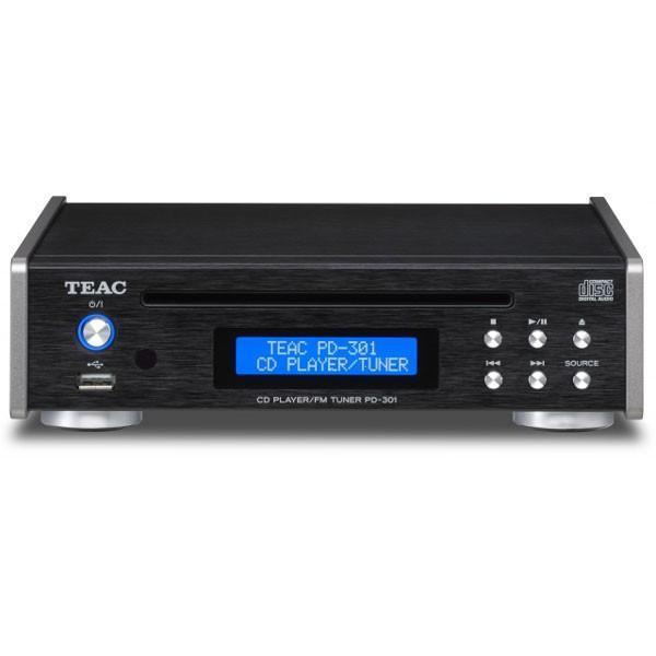 ティアック 信頼 USB搭載ワイドFM対応CDプレーヤー ブラック 返品種別A 宅送 TEAC PD-301-B