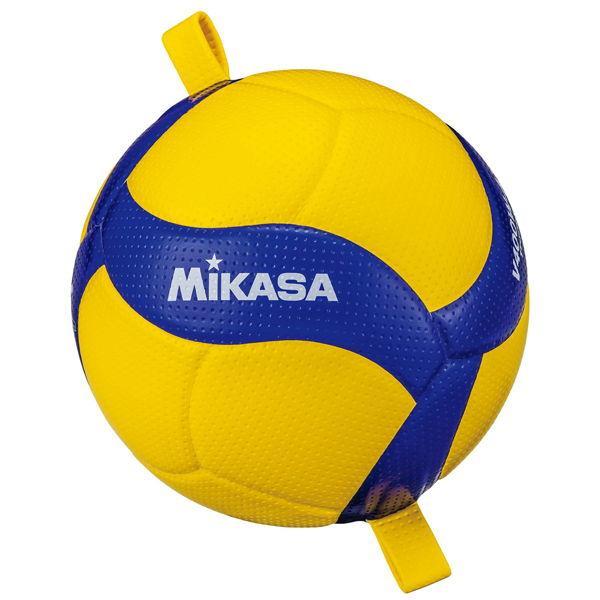 ミカサ トレーニングボール 4号 至上 ひも付 ブルー 返品種別A イエロー V400W-AT-TR MIKASA 高級品