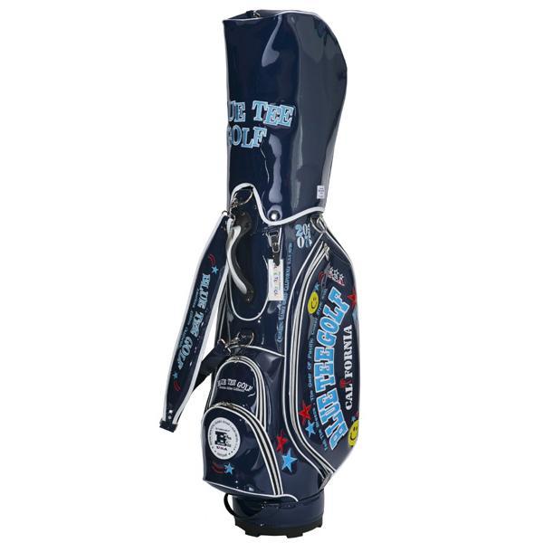 ブルーティーゴルフ エナメルキャディバック(ネイビー・9型・46インチ対応) 青 TEE GOLF BTG-CB-005 CB-005-NV 返品種別A
