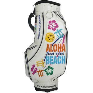 ブルーティーゴルフ アロハオンザビーチ カートキャディバッグ(ホワイト・9型・46インチ対応) 青 TEE GOLF CB-009 CB-009 返品種別A