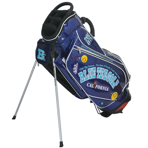 ブルーティーゴルフ エナメルスタンドキャディバッグ(ネイビー・9型・46インチ対応) 青 TEE GOLF CB-012 CB-012-NV 返品種別A