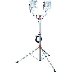 ハタヤリミテッド 防雨型スタンド付ハロゲンライト 300W×2灯 100V電線5m 投光器(ハロゲン) PHCX-305N 返品種別A