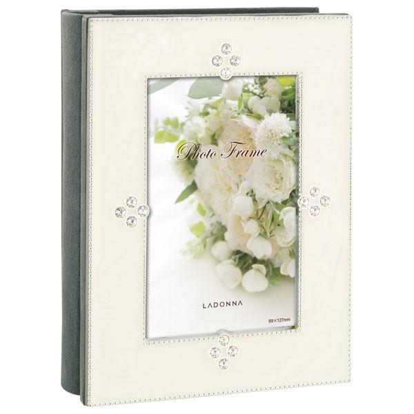 ラドンナ ブライダルアルバムフレーム オンラインショップ ホワイト 返品種別A ポストカード判80枚 タイムセール AMJN02-P-WH