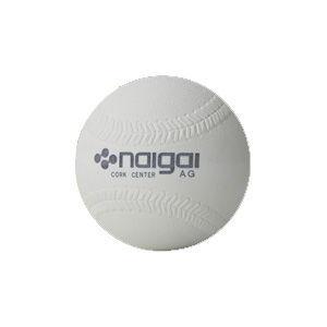 メーカー直送 ナイガイ オリジナル ソフトボール 検定3号 ホワイト 返品種別A ナイガイソフトボ-ル3ゴウ1P ナイガイソフトボール naigai-rubber