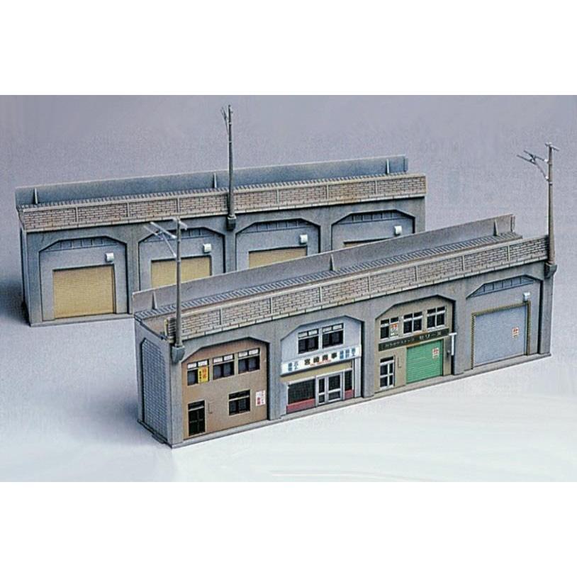 グリーンマックス N ふるさと割 2143 5%OFF 高架下の倉庫 未塗装組立キット 店舗 返品種別B