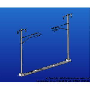 カトー HO 全国一律送料無料 5-054 未使用品 単線ワイド架線柱 返品種別B 12本入 張力調整装置付