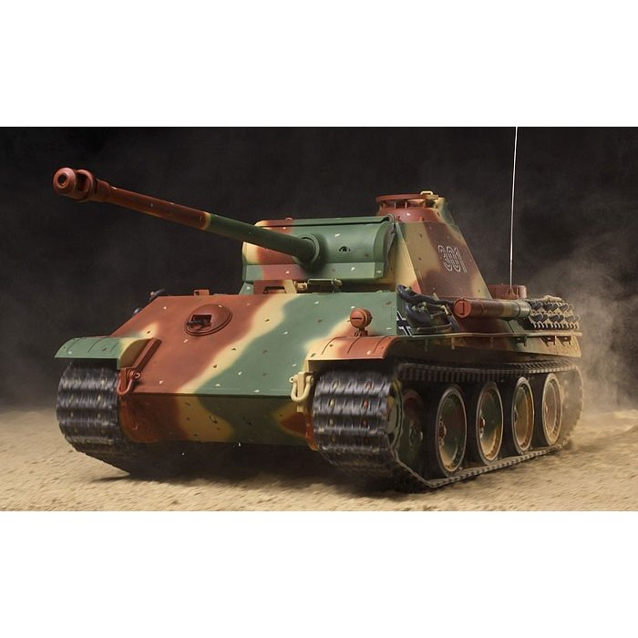 タミヤ 1/ 16電動RC ドイツV号戦車 パンサーG型 フルオペレーションセット(56021)ラジコン 組み立てキット 返品種別B