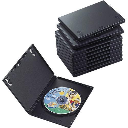 エレコム DVDトールケース 1枚収納 無料 10個入 返品種別A 送料込 CCD-DVD03BK ブラック