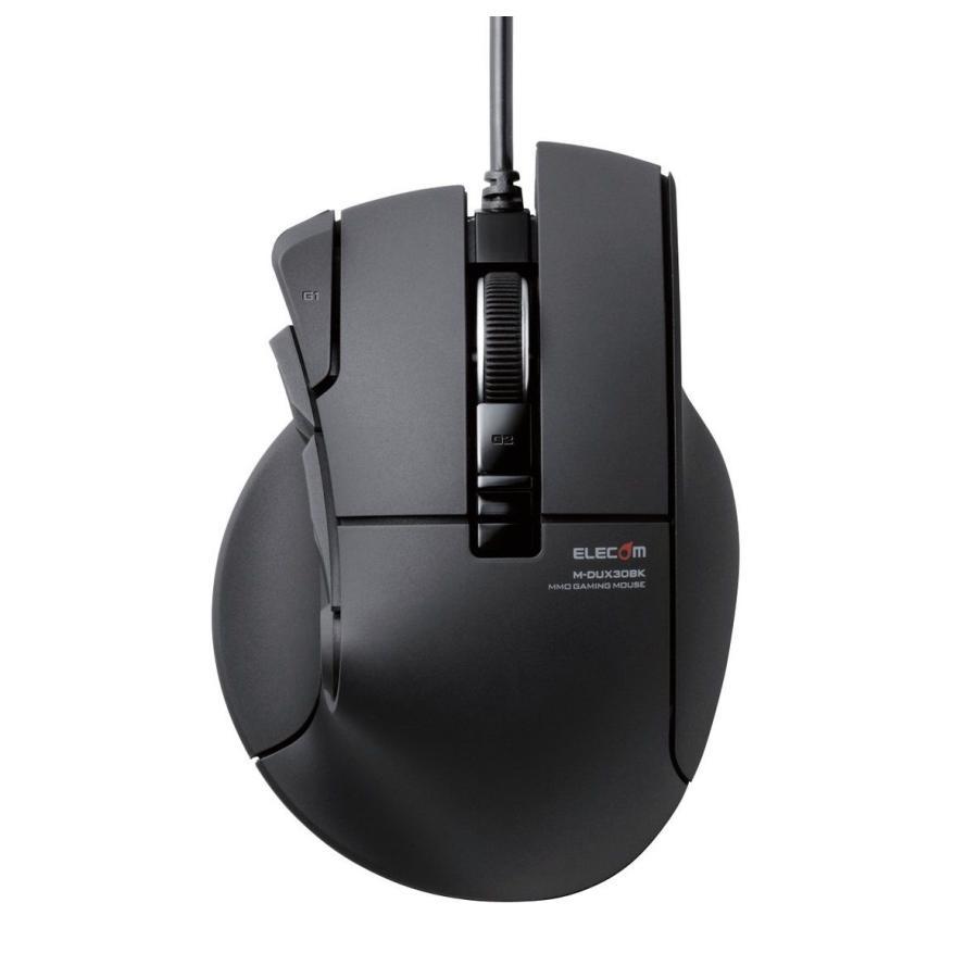 """エレコム おトク USB有線光学式 10ボタン 新作続 MMOゲーミングマウス ブラック ドゥクス 返品種別A """"DUX"""" M-DUX30BK"""