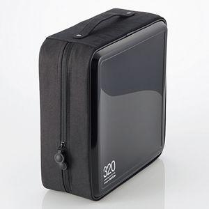 エレコム CD 2020モデル 買取 DVDファスナーケース 320枚収納 返品種別A ブラック CCD-H320BK
