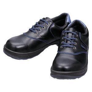 シモン 安全靴 短靴 黒/ ブルー 23.5cm SL11BL23.5 返品種別A