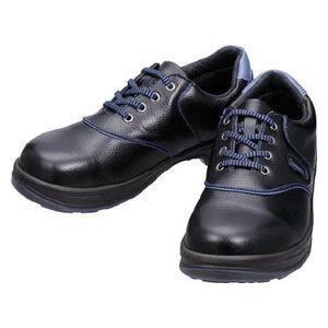 シモン 安全靴 短靴 黒/ ブルー 24.0cm SL11BL24.0 返品種別A