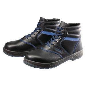 シモン 安全靴 編上靴 黒/ ブルー 27.5cm SL22BL27.5 返品種別B