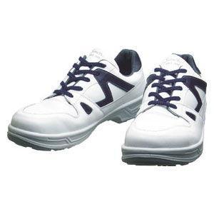 シモン 安全靴 短靴 白/ ブルー 26.0cm 8611WB26.0 返品種別A