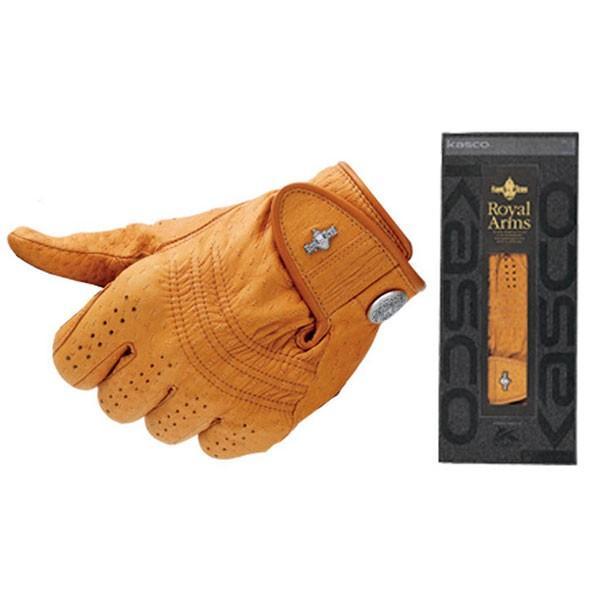 キャスコ ロイヤルアームス 天然皮革グローブ 左手用(ゴールド・21cm) Kasco GR-1120ゴ-ルド 21CM 返品種別A