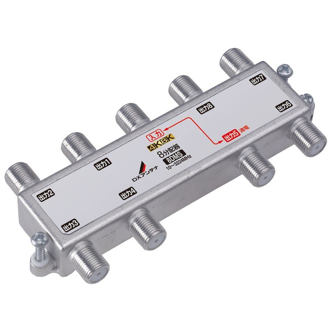 DXアンテナ 8分配器(4K/ 8K対応)(1端子電流通過) 8DMS 返品種別A