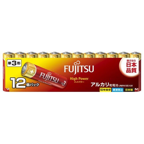 FDK 特価品コーナー☆ アルカリ乾電池単3形 12本パック 富士通 FUJITSU ご予約品 12S LR 返品種別A 6FH ハイパワータイプ