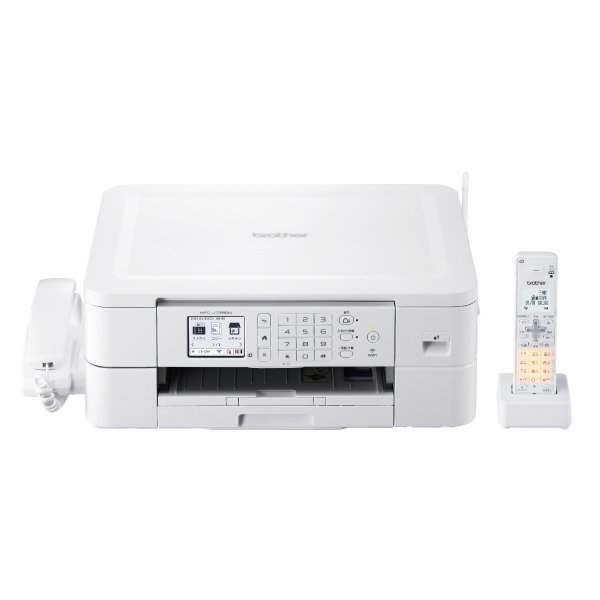 ブラザー A4プリント対応 インクジェット FAX複合機(コードレス受話器1台) brother PRIVIO(プリビオ) MFC-J739DN 返品種別A