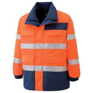 ミドリ安全 高視認性 防水帯電防止防寒コート オレンジ SS SE1125-UE-SS 返品種別A