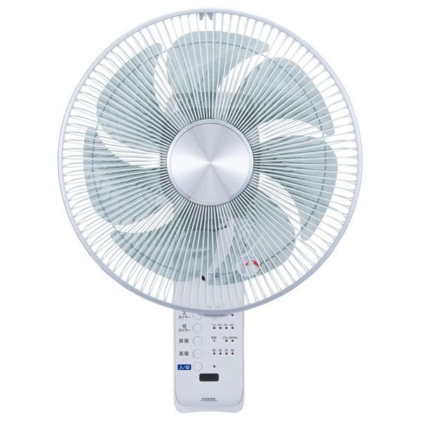 ユアサ (扇風機)壁掛扇風機(リモコン付 ホワイト) YUASA YTW-384YFR-W ...