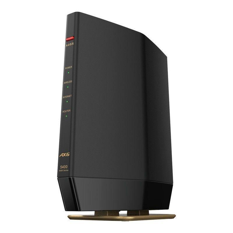 バッファロー 11ax Wi-Fi 6 2020A W新作送料無料 賜物 対応 無線LANルータ 親機 マットブラック 返品種別A WSR-5400AX6S-MB 4803+573mbps