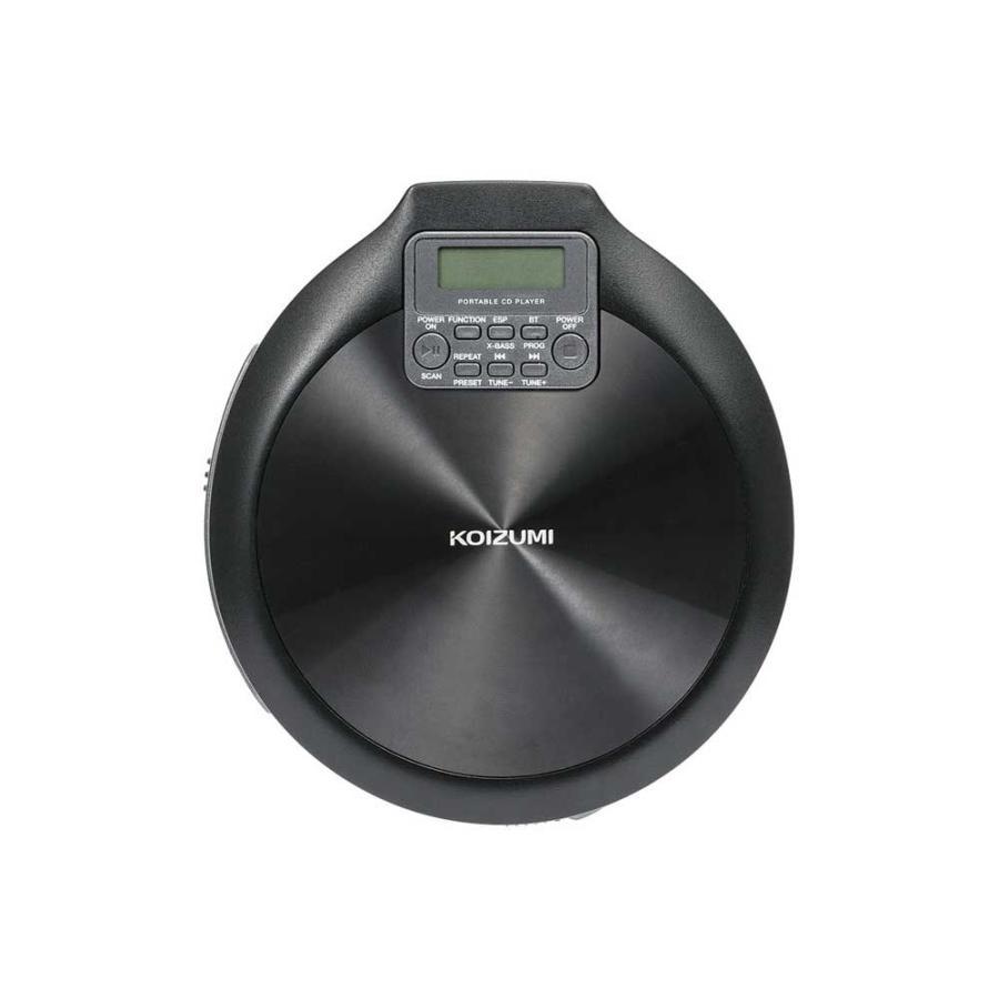 コイズミ Bluetooth対応 ポータブルCDプレーヤー KOIZUMI 返品種別A NEW ARRIVAL 上質 SAD-3904-K