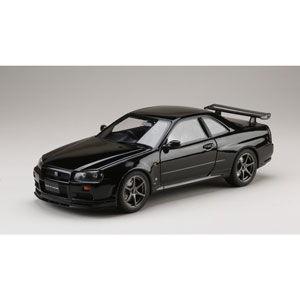 ホビージャパン 1/ 18 ニッサン スカイライン GT-R V・スペック 1999 (BNR34) ブラックパール(HJ1809BK)ミニカー 返品種別B
