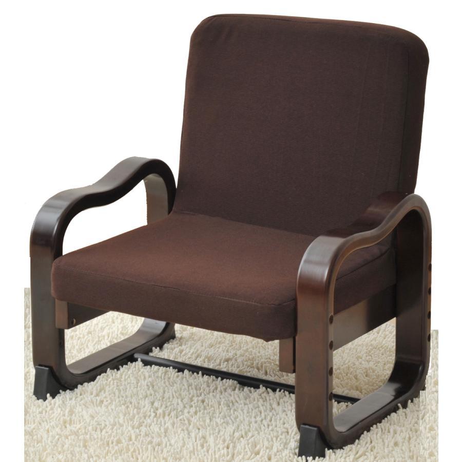 山善 座椅子 ダークブラウン YAMAZEN 返品種別A ハイバック 引出物 優しい座椅子 SKC-56H-DBR 商舗