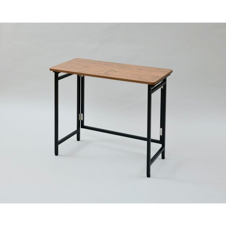 山善 折りたたみ式デスク パタパタデスク サイドテーブル 新作 返品種別A 完成品 買物 RPST-8040H-ABRBK4