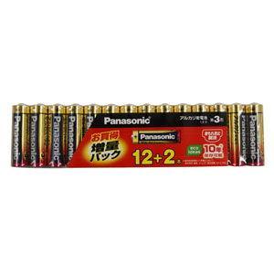 パナソニック アルカリ乾電池単3形 12本パック+2本パック 大人気 直営ストア 増量パック LR6XJSP 14S Panasonic 返品種別A
