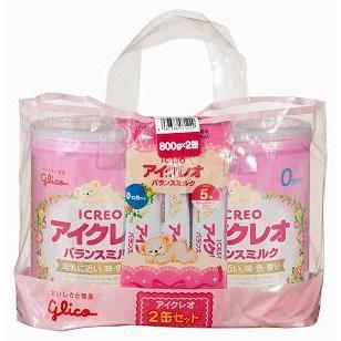 アイクレオのバランスミルクにこにこセット 800g×2個 江崎グリコ 通常便なら送料無料 返品種別B 0ヶ月から 内祝い