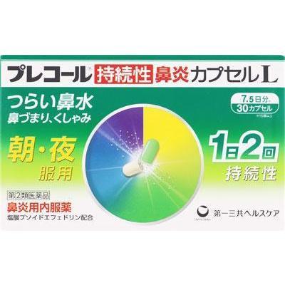 第 2 類医薬品 豪華な 第一三共ヘルスケア プレコール持続性鼻炎カプセルL 定価 30cp 返品種別B
