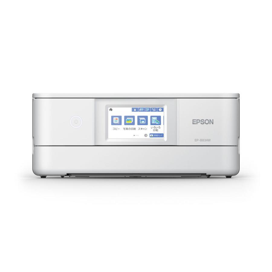 エプソン A4プリント対応 インクジェットプリンタ複合機 初回限定 ホワイト EPSON EP-883AW カラリオ 新作販売 返品種別A Colorio