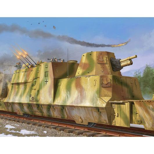 トランペッター (再生産)1/ 35 ドイツ装甲列車編成BP-42/ 対空砲車(01511)プラモデル 返品種別B