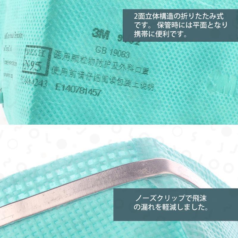 医療用マスク 3M 9132 マスク N95 折りたたみ式 防護マスク 5枚入り 新品 個別包装品 送料無料  即納 「正規保証」緊急入荷 joso 07