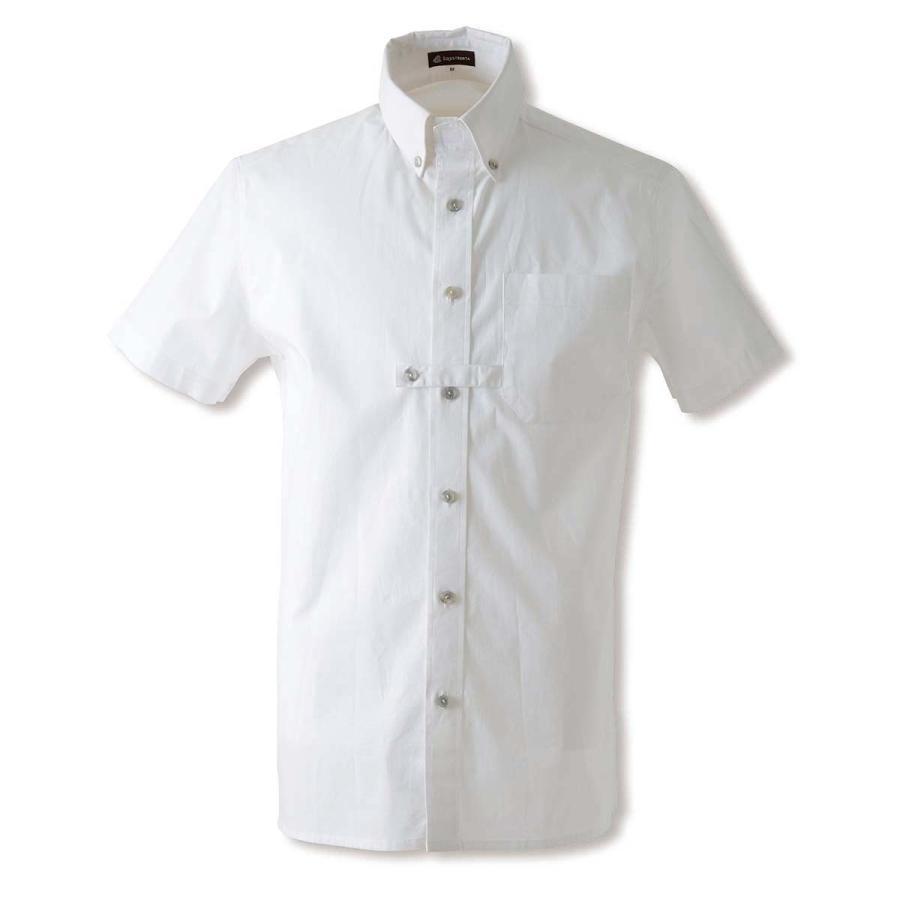 乗馬用品 EQULIBERTA ショーシャツ メンズ 半袖 ホワイト 乗馬 馬具