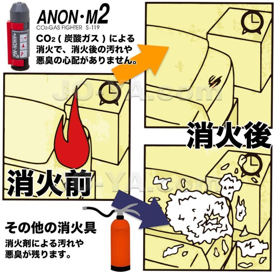 ANON M2 アノン・エム2 (コンパクトCo2 炭酸ガス 消火器)|joyacom|03