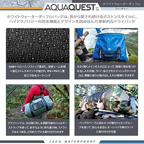 AquaQuest (アクアクエスト) White Water ダッフル - ヘビーデューティー 100% 防水 - ブラック75 L|joycle|03